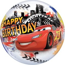 Bubbles Happy birthday Cars