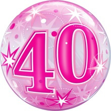 Bubble 40e Verjaardag Roze