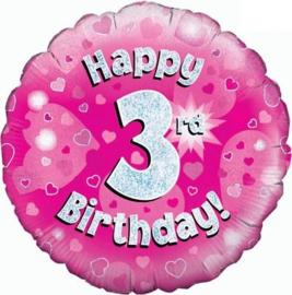 "Sempertex 18"" 3e Verjaardag Roze"