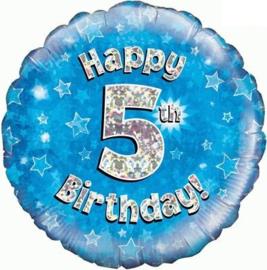 "Sempertex 18"" 5e Verjaardag Blauw"