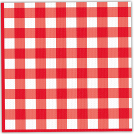 Servetjes Picknick Rood/Wit