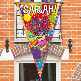 Mega Balkon/Deur Puntvlag Sarah 50