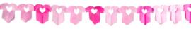 Papierslinger 6 meter Roze Shirtjes