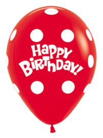Sempertex Ballonnen Polka Dots Rood