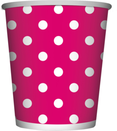 Bekers Polka Dots Fuchsia