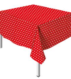 Tafelkleed Polka Dots Rood