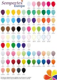 Kleurenkaart latex onbedrukt