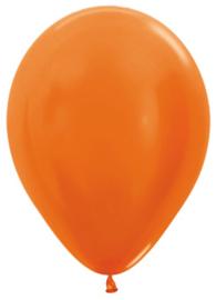 """Metallic Oranje 5""""(10cm) 50 st."""
