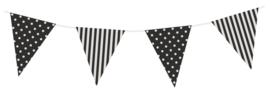 Vlaggen Gestreept/Gestipt Zwart