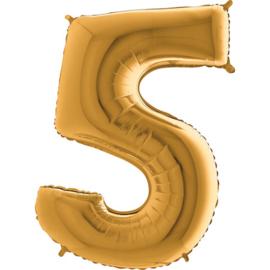"Cijfer 5 26"" Goud"