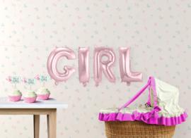 "Air-Filled Ballonletters GIRL 14"" Roze"