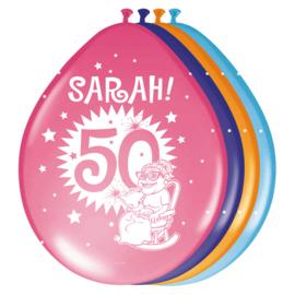 Ballonnen 30cm Sarah 50