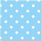 Servetjes Polka Dots Pastel Blauw