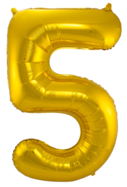 """Ballon 34"""" Nummer 5 Goud"""