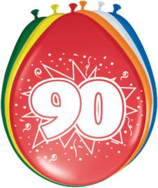 Ballonnen 30cm 90e Verjaardag