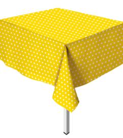 Tafelkleed Polka Dots Geel
