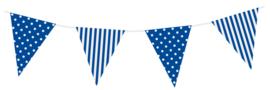 Vlaggen Gestreept/Gestipt Royal Blue