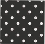 Servetjes Polka Dots Zwart