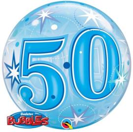 Bubble 50e Verjaardag Blauw