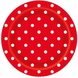 Bordjes Polka Dots Rood