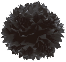 Pompom Zwart 3 st.