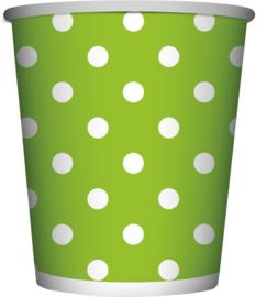 Polka Dots Lime Groen