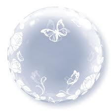Deco Bubble Rozen&Vlinders 24""