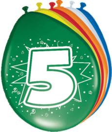 Ballonnen 30cm 5e Verjaardag