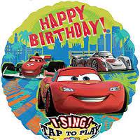 Ballon met liedje Cars 'Happy birthday'