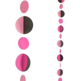 Balloon Tail Roze, Zwarte Dots