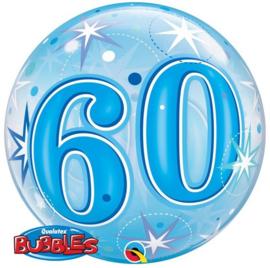 Bubble 60e Verjaardag Blauw