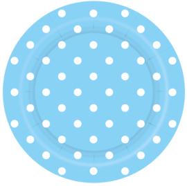 Bordjes Polka Dots Pastel Blauw