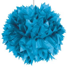 Pom-pom 30cm Blauw