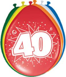 Ballonnen 30cm 40e Verjaardag