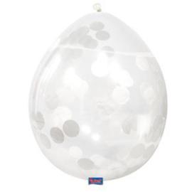 Confetti Ballon Wit