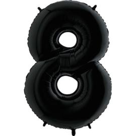 """Sempertex 40"""" Nummer 8 Zwart"""