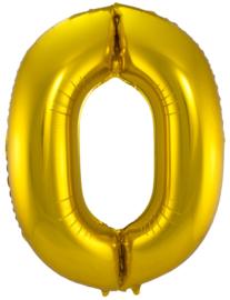 "Folie Ballon 26"" nummer 0 Goud"