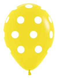 """12"""" Polka Dots Geel"""