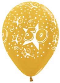 """Sempertex 12"""" Leeftijd 50 Goud zk. á 25 stuks"""