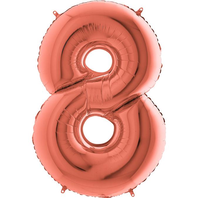 "Sempertex 40"" Nummer 8 Rosé Goud"