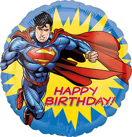 "superman folieballon ""happy birthday"""