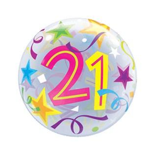 Bubble 21e Verjaardag bont slingers