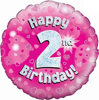 "Sempertex 18"" 2e Verjaardag Roze"