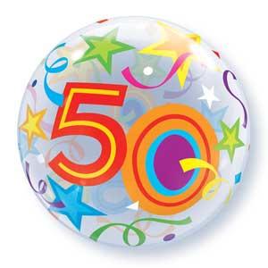 Bubble 50e Verjaardag bont slingers