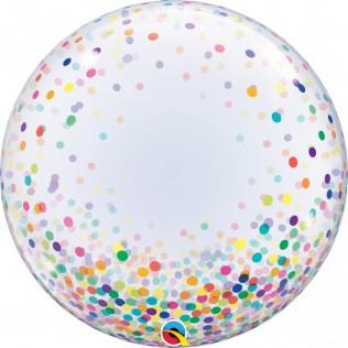 """Deco Bubbles Colorful Confetti Dots 24"""""""