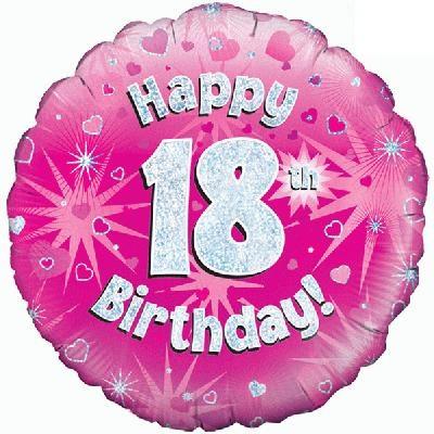 "Sempertex 18"" 18e Verjaardag Roze"