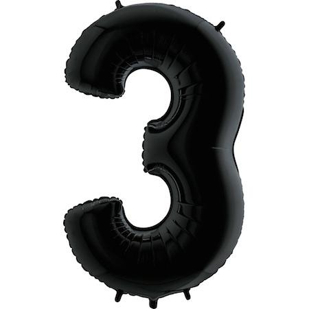 """Sempertex 40"""" Nummer 3 Zwart"""