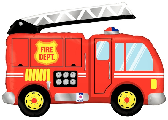 "Brandweerauto folieballon 40"""