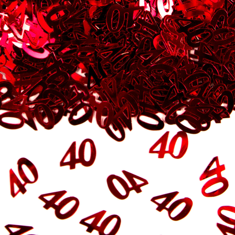 Tafeldecoratie Rood '40'