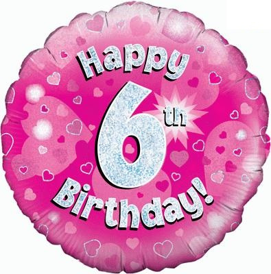 "Sempertex 18"" 6e Verjaardag Roze"